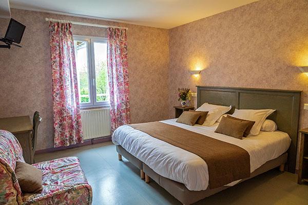 chambre hôtel du nord à Sainte Eulalie