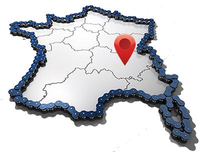 localisation de nos séjours vélo sur la carte de France