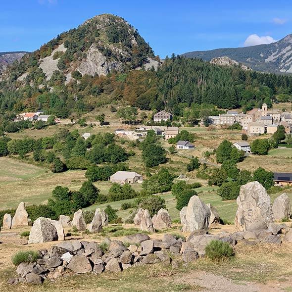 panorama des dolmens de Borée