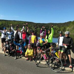 séjour vélo Haut Lignon mai 2021 - photo de groupe
