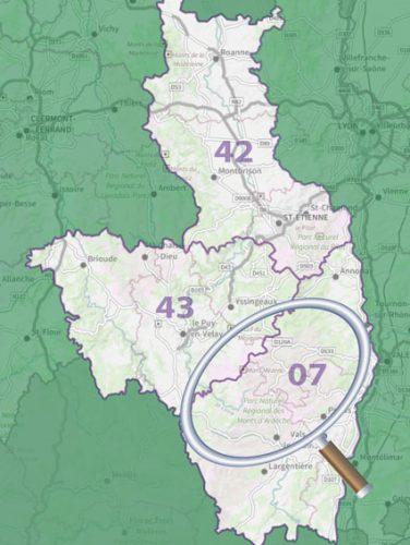 carte de localisation - séjour vélo Genêts