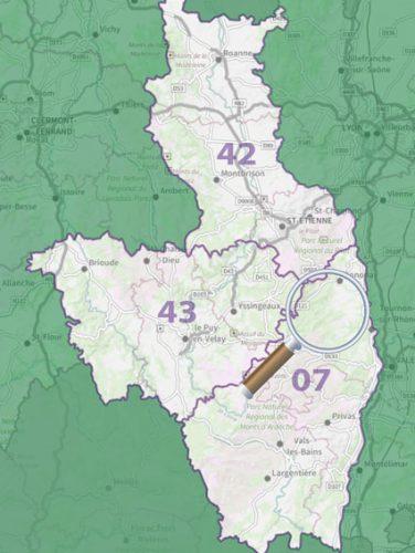 carte de localisation - séjour vélo San Farcio